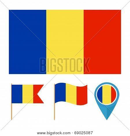 Romania, Country Flag Vector