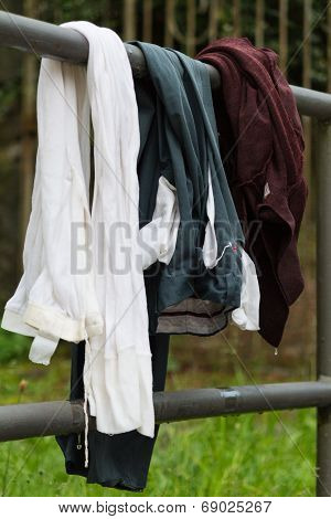the clothes washed at the old fountain