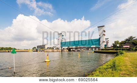 The Algera Storm Surge Barrier Is A Hydraulic Engineering Work In The Very Large Dutch Delta Works P