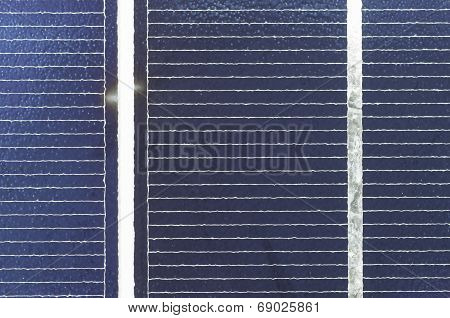 Solar Cel Panel Close Up, Detail