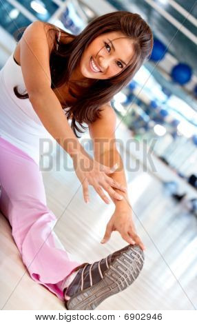 Gym Woman Stretching