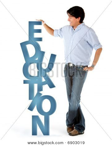 Man With Word Education