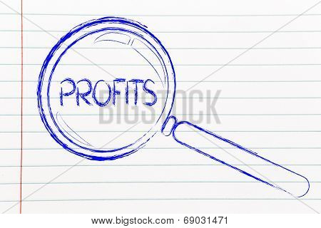 Focusing On Profits, Magnifying Glass Design