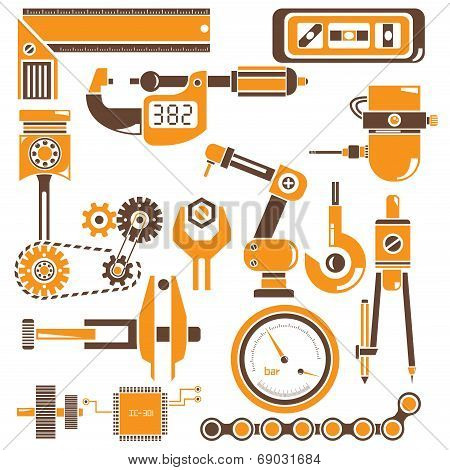 mechanical tools icons