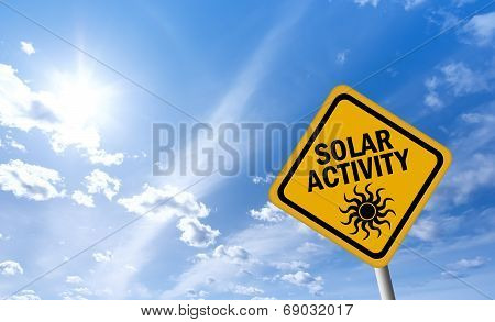Solar activity warning sign
