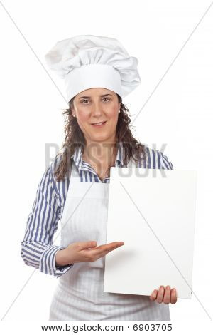 Smiling Cook Woman