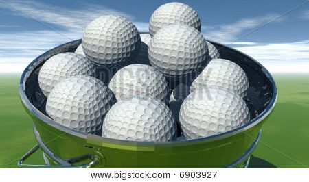 Golf Balls in Bucket