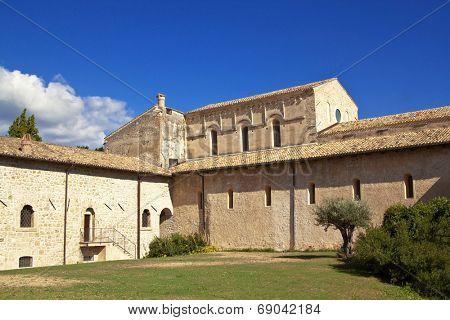 San Clemente abbey courtyard, Abruzzo region, Italy