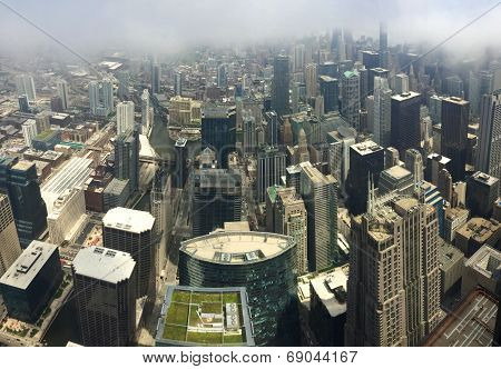 Chicago from ariel view