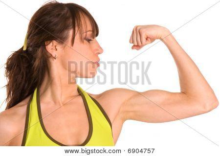 Sportswoman Muscles