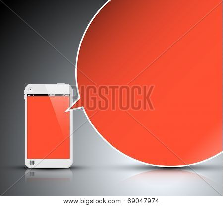 vector smartphone communication technology - concept illustration