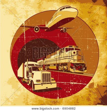 Cargo Transpartation Grunge