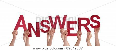 Hands Holding Answers