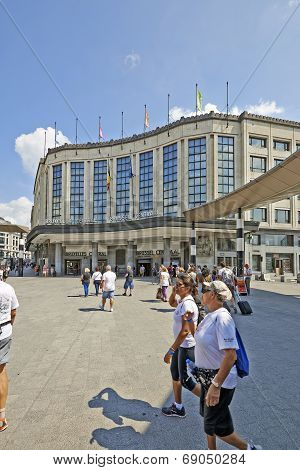 Exterior Of Brussels Central Main Railway Station