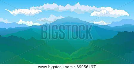Panoramic view of the mountain range