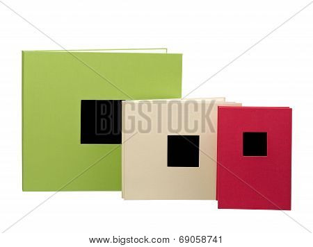 Blank Books, Photo Album Isolated On A White Background