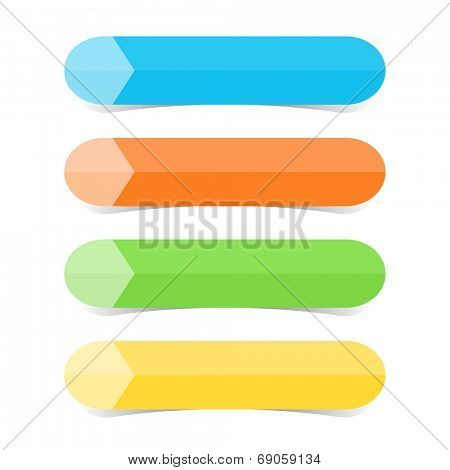 Web graphic color tabs illustration