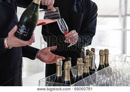 Beverage At A Buffet