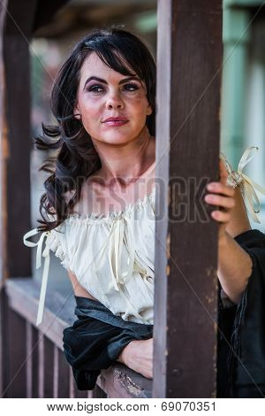 Saloon Girl Portrait