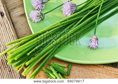 Chives On The Plate