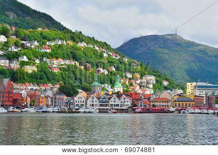 Norway. City-view Of Bergen