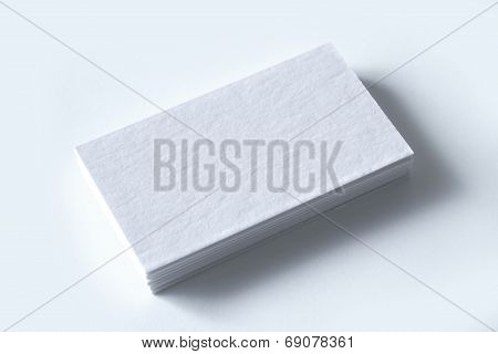 Blank Business Cards Isolated On White