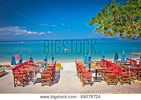 Beautiful Pefkochori beach on Kasandra peninsula, Greece.