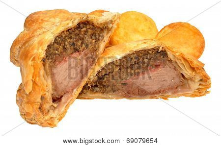 Beef Wellington And Roasted Potatoes