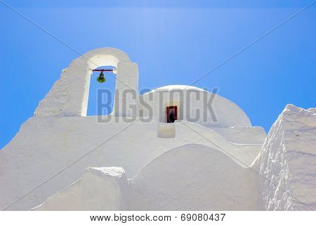 White Church In Mykonos,greece