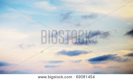 Cloudscape With Stratocumulus Clouds