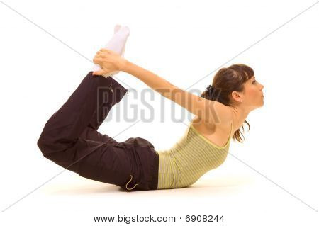 Woman Showing Her Flexibility