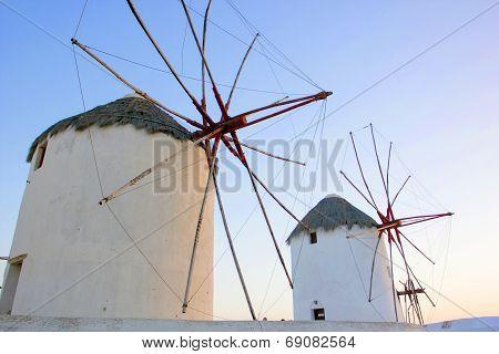Traditional Windmill In Mykonos