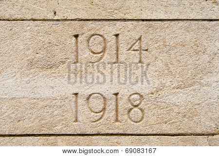 World War On 1914 1918 Cemetery In Flanders Belgium