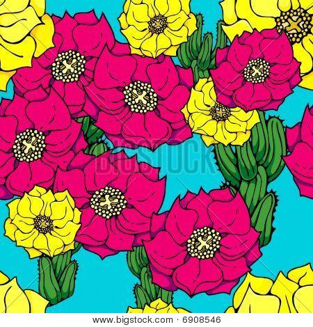 cactus flower pattern