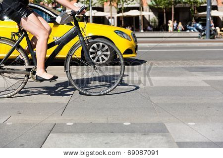 Bicycle And Cab