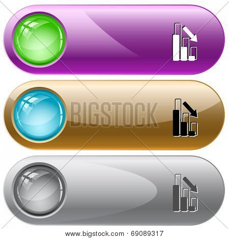 Graph degress. Raster internet buttons.