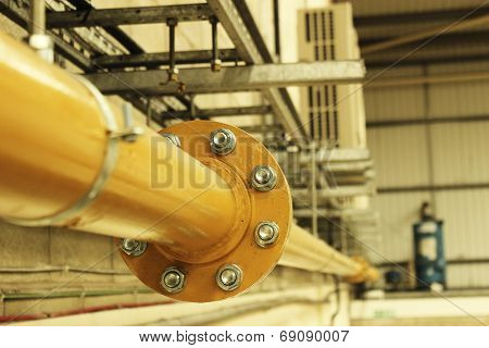 Industrial Yellow Steel Gas Pipe