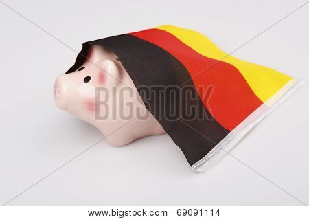 Pig Money Box And Germany Flag