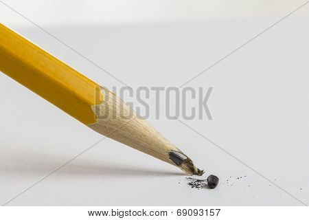 Pencil With A Broken Tip.