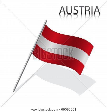 Realistic Austrian flag