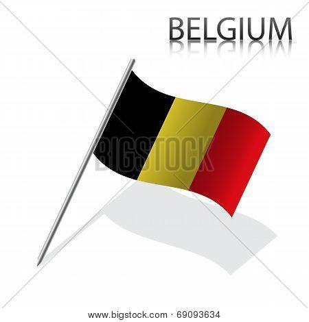 Realistic Belgian flag
