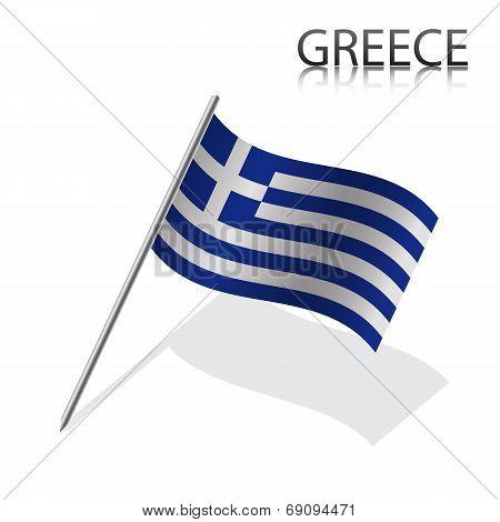 Realistic Greek flag