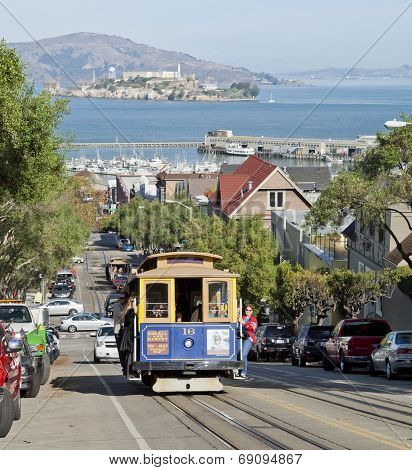 San Francisco - November 2Nd: The Cable Car Tram, November 2Nd, 2012 In San Francisco, Usa. The San