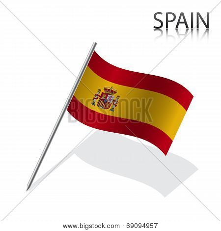Realistic Spanish flag