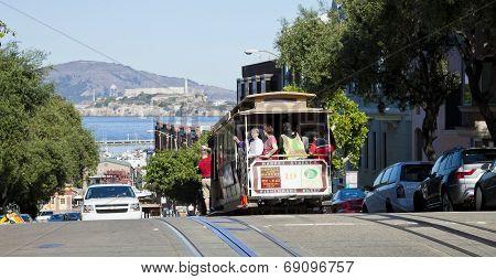 San Francisco - November 3Rd: The Cable Car Tram, November 3Rd, 2012 In San Francisco, Usa. The San