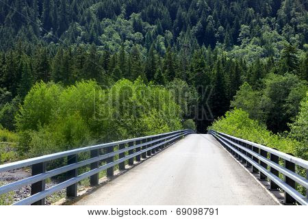 One lane forest bridge near Packwood in Washington state
