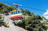 foto of ropeway  - Ropeway in Yalta leading to the top of Ai - JPG