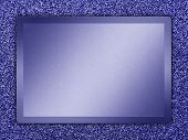 stock photo of bronze silver gold platinum  - Blue colored metal plate on a blue metallic background - JPG
