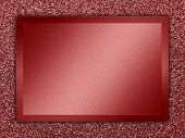 pic of bronze silver gold platinum  - Red colored metallic plate on a red metallic background - JPG
