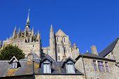 foto of mont saint michel  - mont saint michel view - JPG